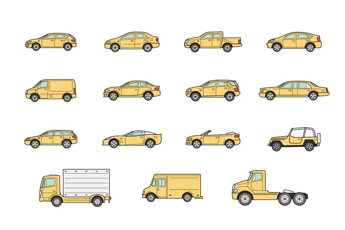 Thumbnail for 15 Car bodies icons