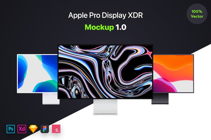 Thumbnail for Apple Pro Display XDR Mockup 1.0