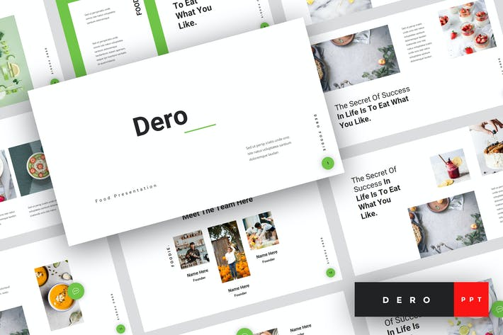 Thumbnail for Dero - Еда PowerPoint Шаблон