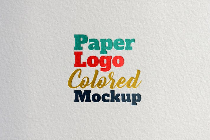 Thumbnail for Paper Logo Colored Mockup