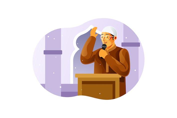Thumbnail for Kleriker halten einen Vortrag in der Moschee