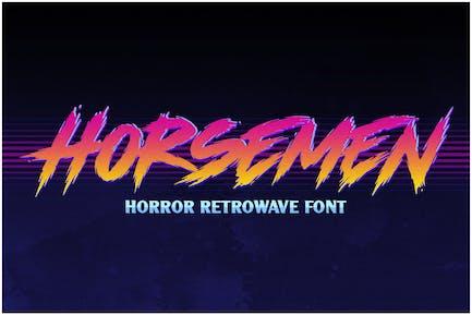 Horsemen - Horror Retrowave Fuente