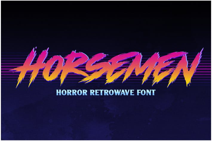 Cover Image For Horsemen - Horror Retrowave Font