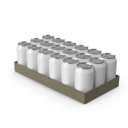 Pack with 24 White Soda Cans