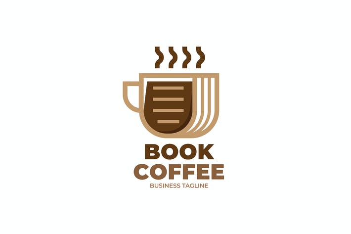 Thumbnail for Book Coffee Logo