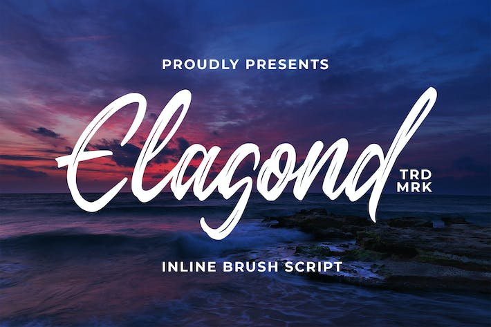 Thumbnail for Elagond - Inline Brush Script