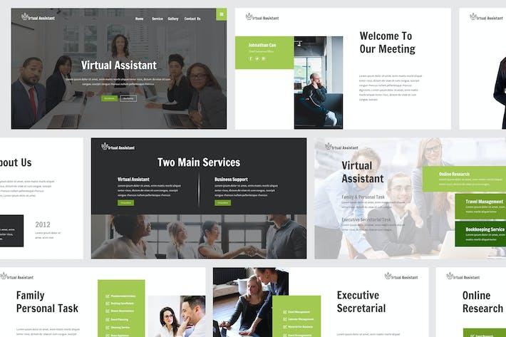 Thumbnail for Powerpoint-Vorlage für virtuelle Assistant