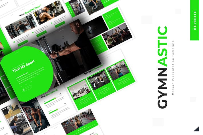 Cover Image For Gymnastic - Keynote Template