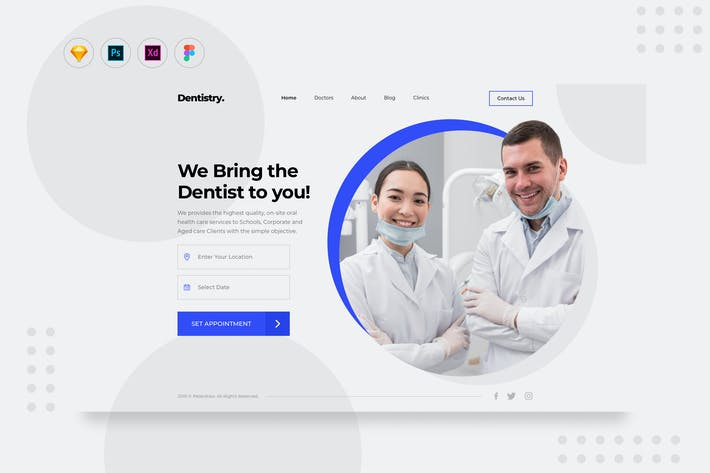 Thumbnail for DailyUI - Site Web de réservation de rendez-vous de service dentiste