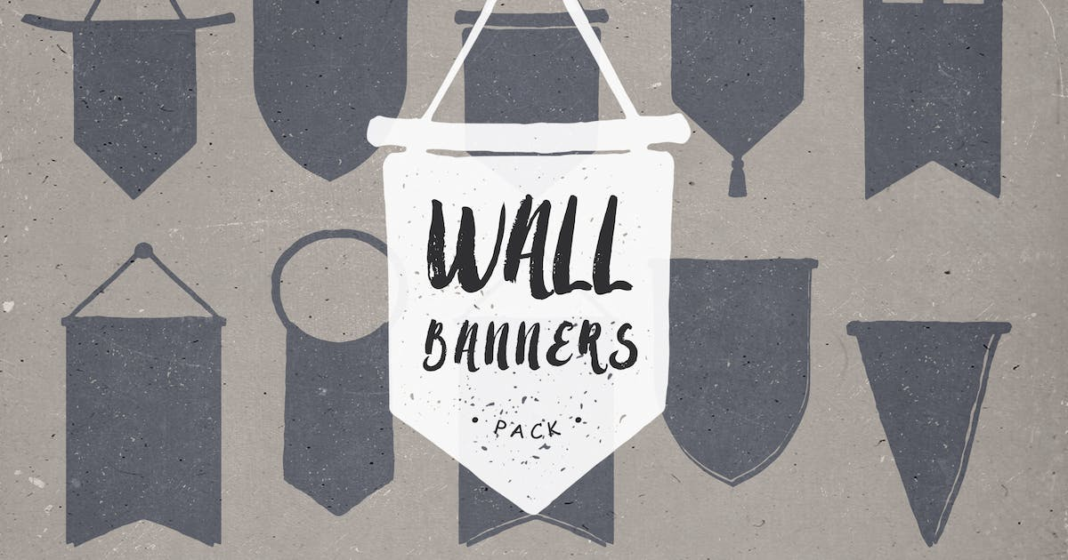 Download Wall Banners Hand Drawn by featherandsage