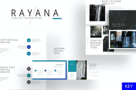 Rayana - Шаблон ключевых заметок галереи