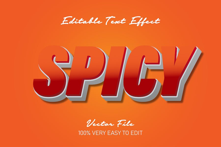 Strong bold spicy text effect