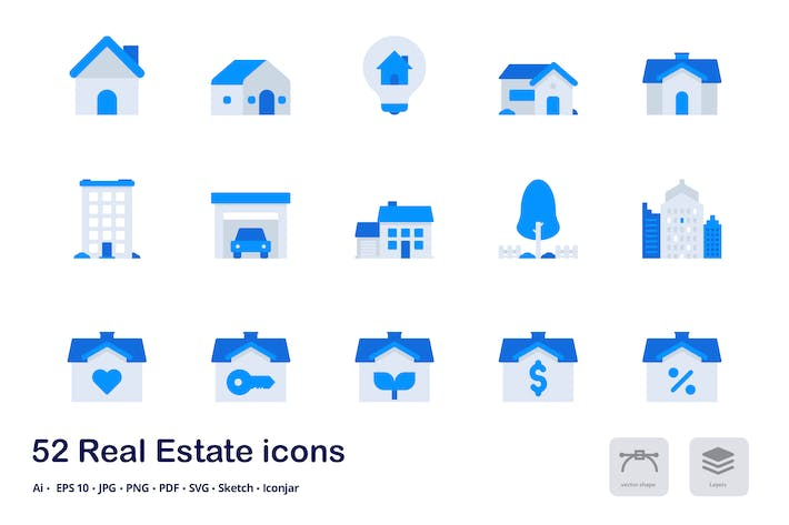 Thumbnail for Real Estate Accent Duo Tone Icons