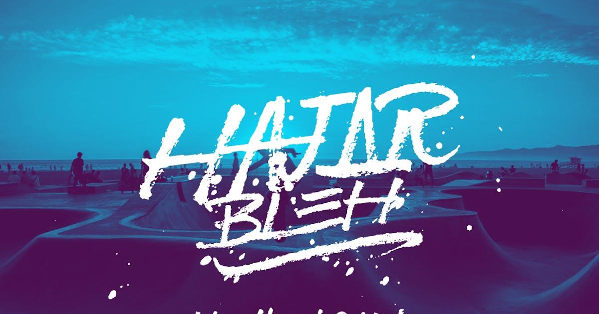 Download HajarBleh Brush Font by Ijajil
