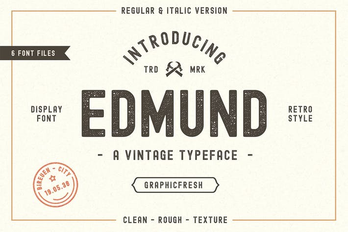 Thumbnail for The Edmund - 6 Font Files