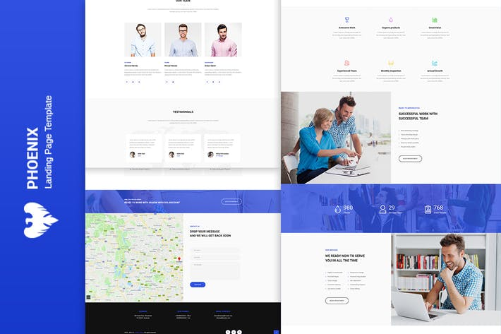 Thumbnail for Phoenix - Services HTML Template