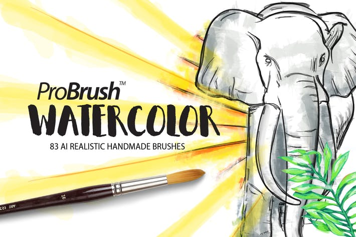 Book Cover Watercolor Brushes : Watercolor probrush by leosupply on envato elements