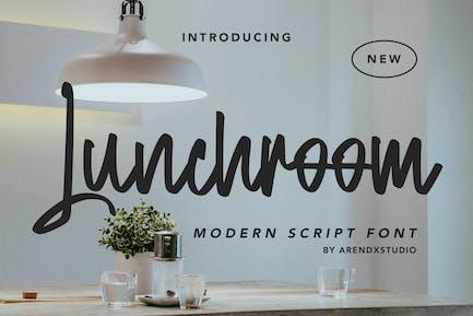 Lunchroom - Modern Script Font