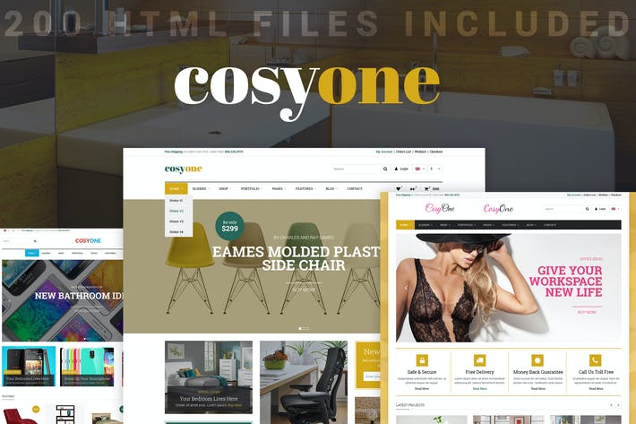 Cover Image For CosyOne - eCommerce HTML Template