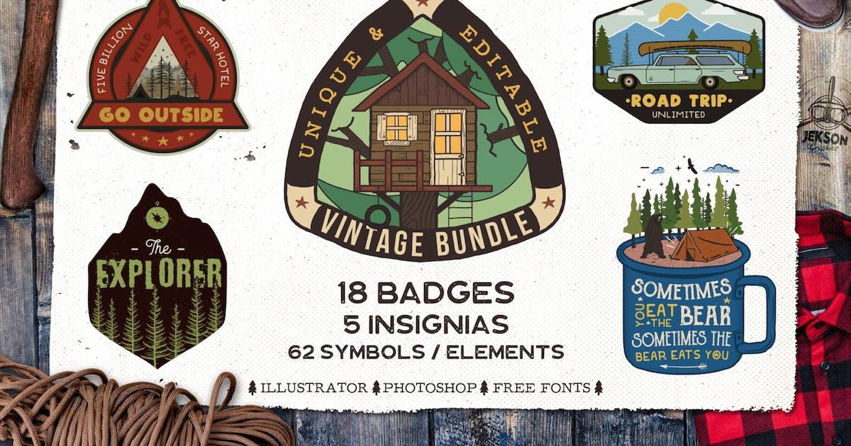 Download Retro Camp Badges / Adventure Logo Patches. Part 3 by JeksonJS