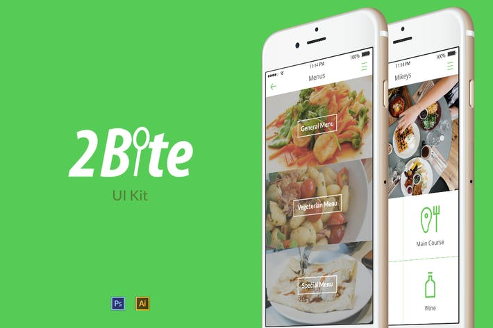 Thumbnail for 2Bite UI Kit