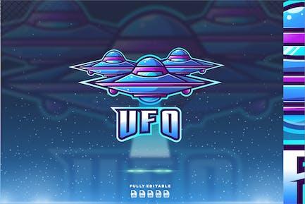 Ufo Alien Plane Logo