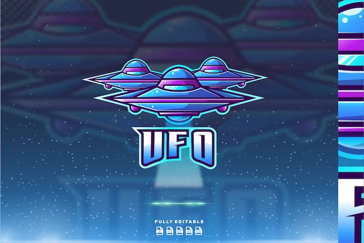 Thumbnail for Ufo Alien Plane Logo