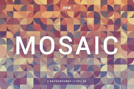 Mosaic| Abstract Gradient Backgrounds | Vol. 04