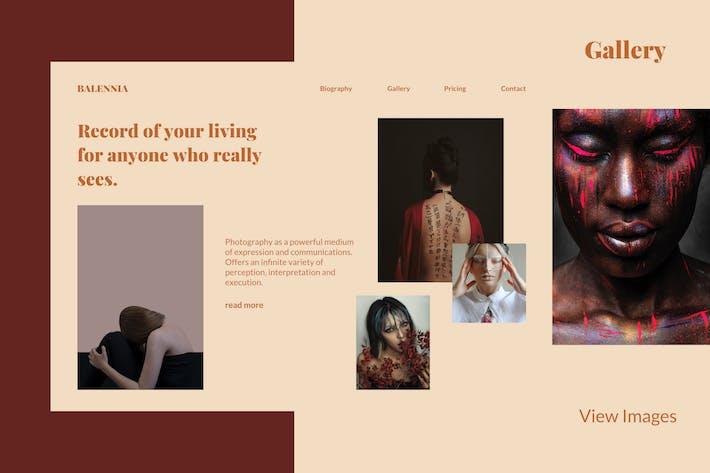 Balennia - Photographer Landing Page Template