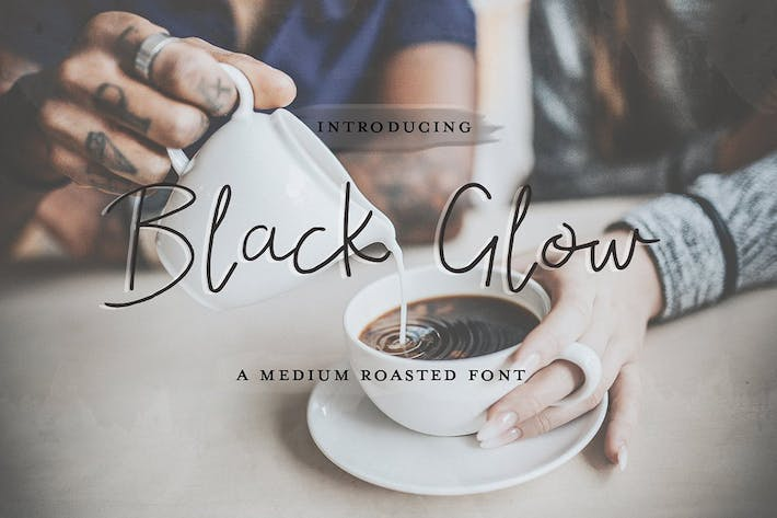 Cover Image For Black Glow Font
