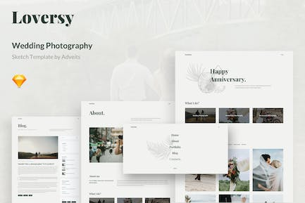 Loversy - Wedding Photography Sketch Template