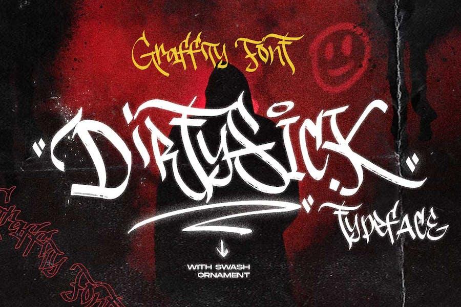 DirtySick | Graffiti Font Logotype