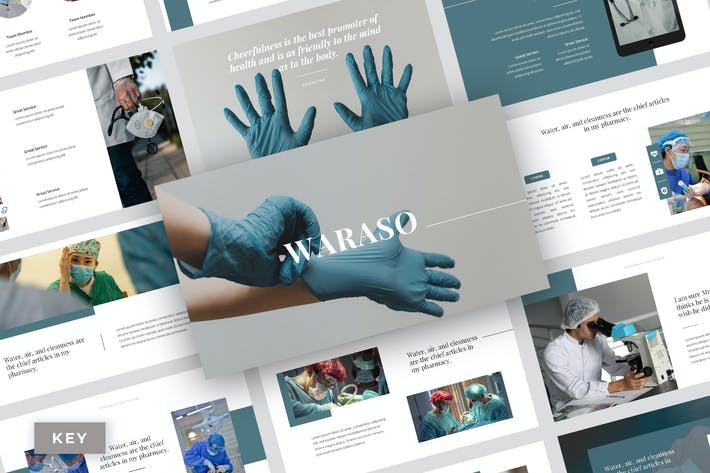 Thumbnail for Waraso - Medical Service Keynote Template