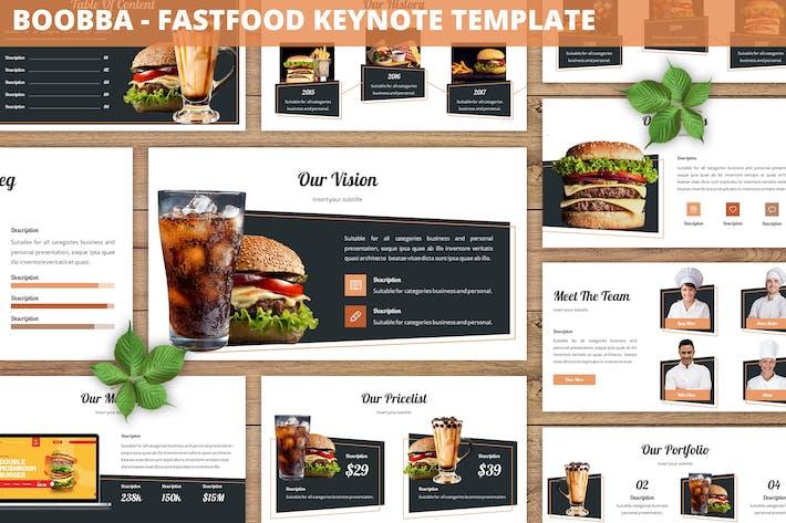 Thumbnail for Boobba - Шаблон Keynote Fastfood
