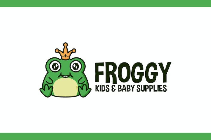 Thumbnail for Cartoon Cute Crowned Frog Character Mascot Logo