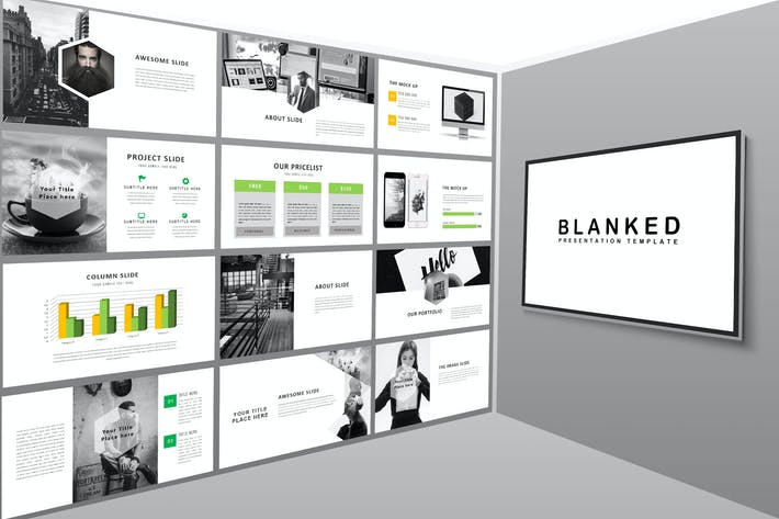 Thumbnail for Blanked Style - Minimal Powerpoint