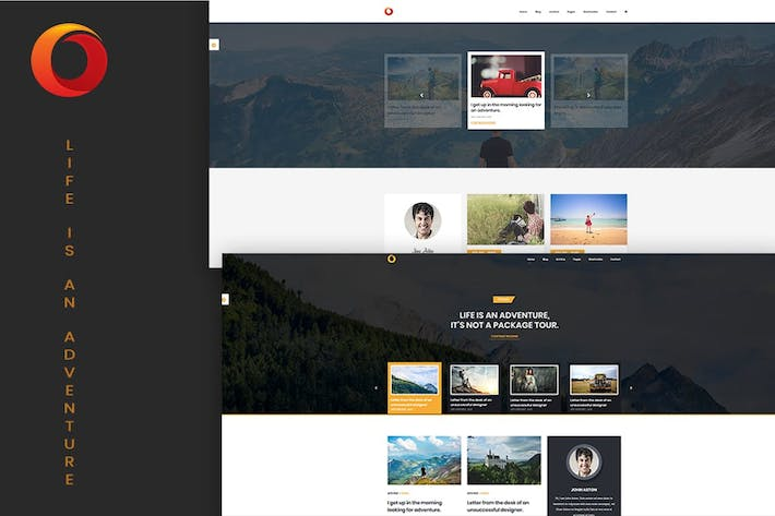 Thumbnail for Dot – Personal Blog PSD Template