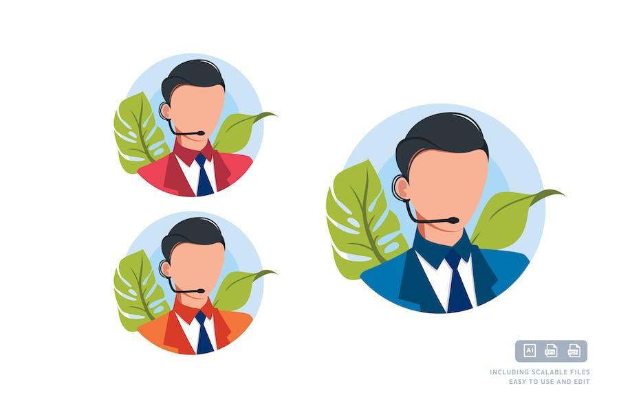 Служба костюмов - Шаблон Илустрации Аватара