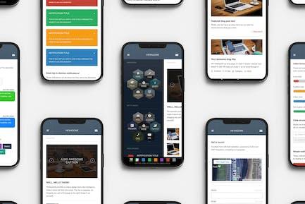 Hexagone   Mobile Website Template