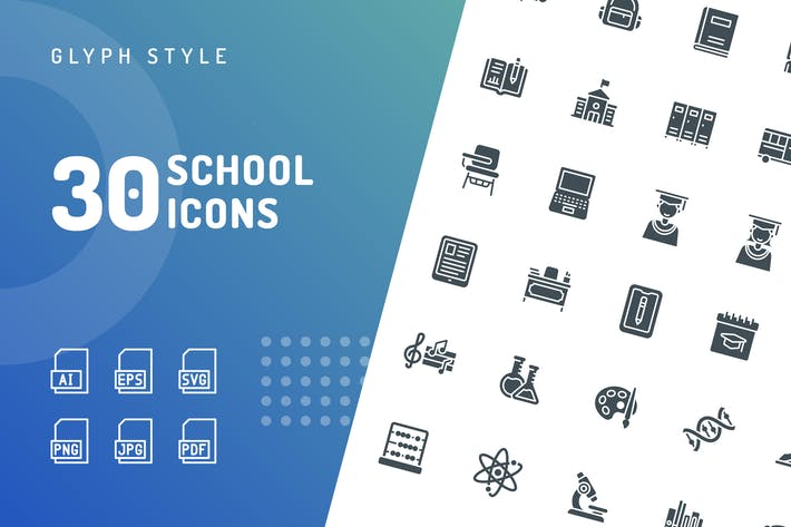 Thumbnail for School Glyph Icons