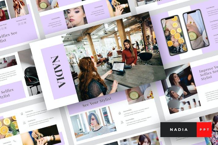Thumbnail for Nadia - Hair Salon PowerPoint Templates