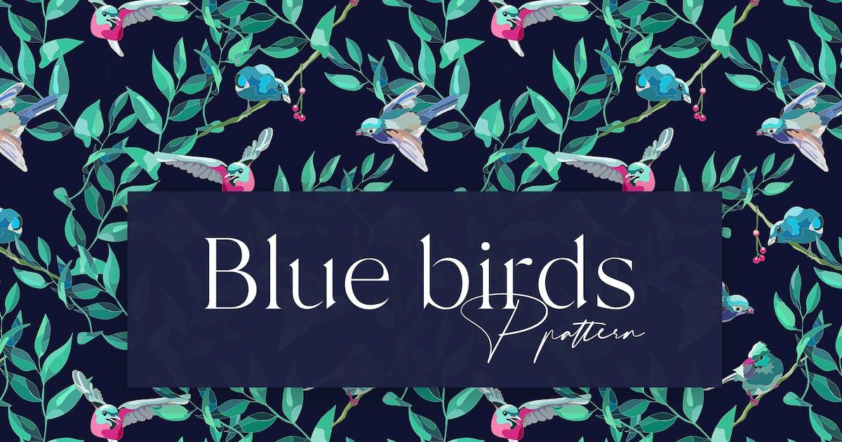 Download Blue Birds Seamless Pattern Design by elzbieta_malyska