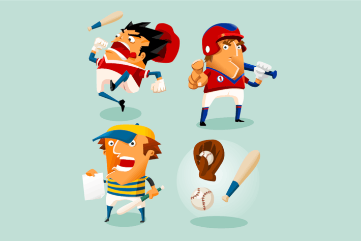 Thumbnail for Baseball-Sportspieler. Detaillierte Vektor illustratio