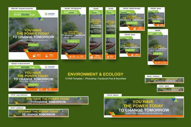 Environment & Ecology Banners Ad