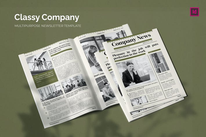 Thumbnail for Classy Company - Newsletter Template