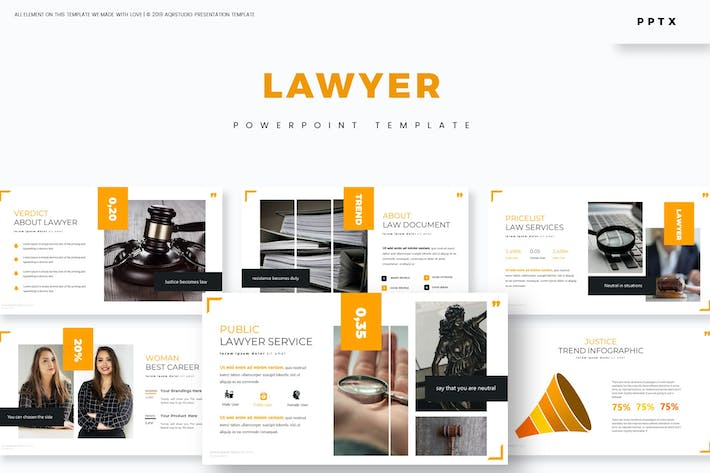 Thumbnail for Lawyer - Powerpoint Template