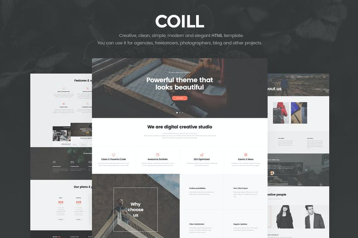 Thumbnail for Coill | Business & Agency HTML5 Template