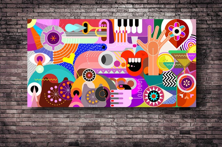 Thumbnail for Abstract Art Vector Background