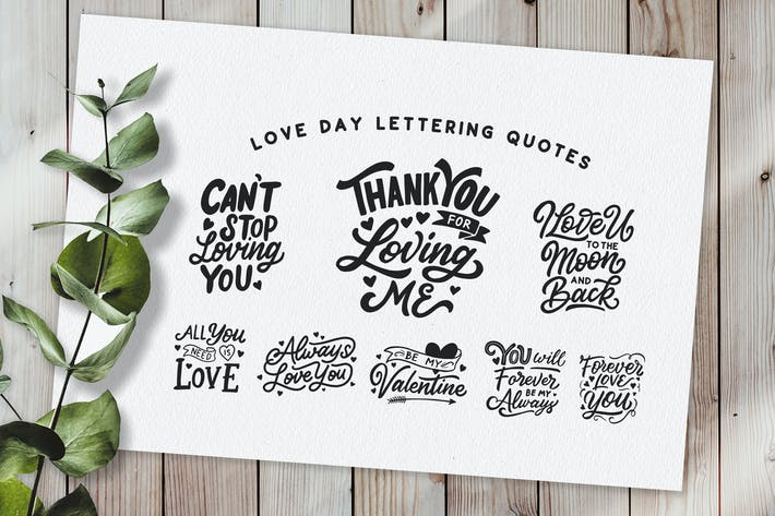 Thumbnail for Love Day Hand Lettering Quotes
