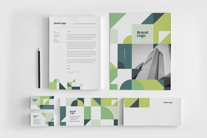 Thumbnail for Modern Green Architecture Stationery